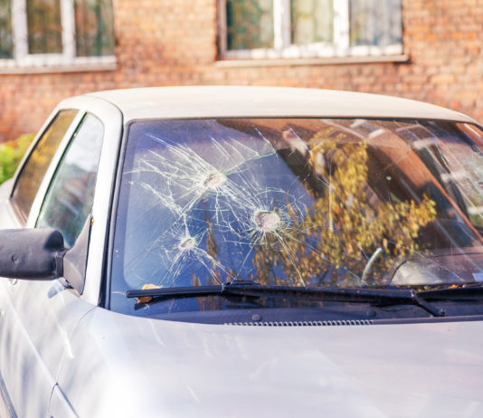Skadegörelse på bil